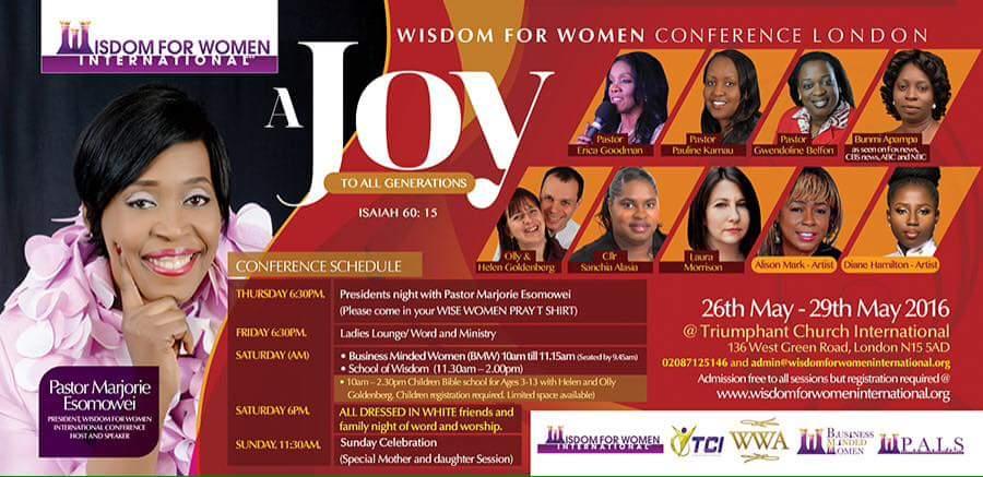 Wisdom for Women Conference London @ Triumphant Church International | London | United Kingdom