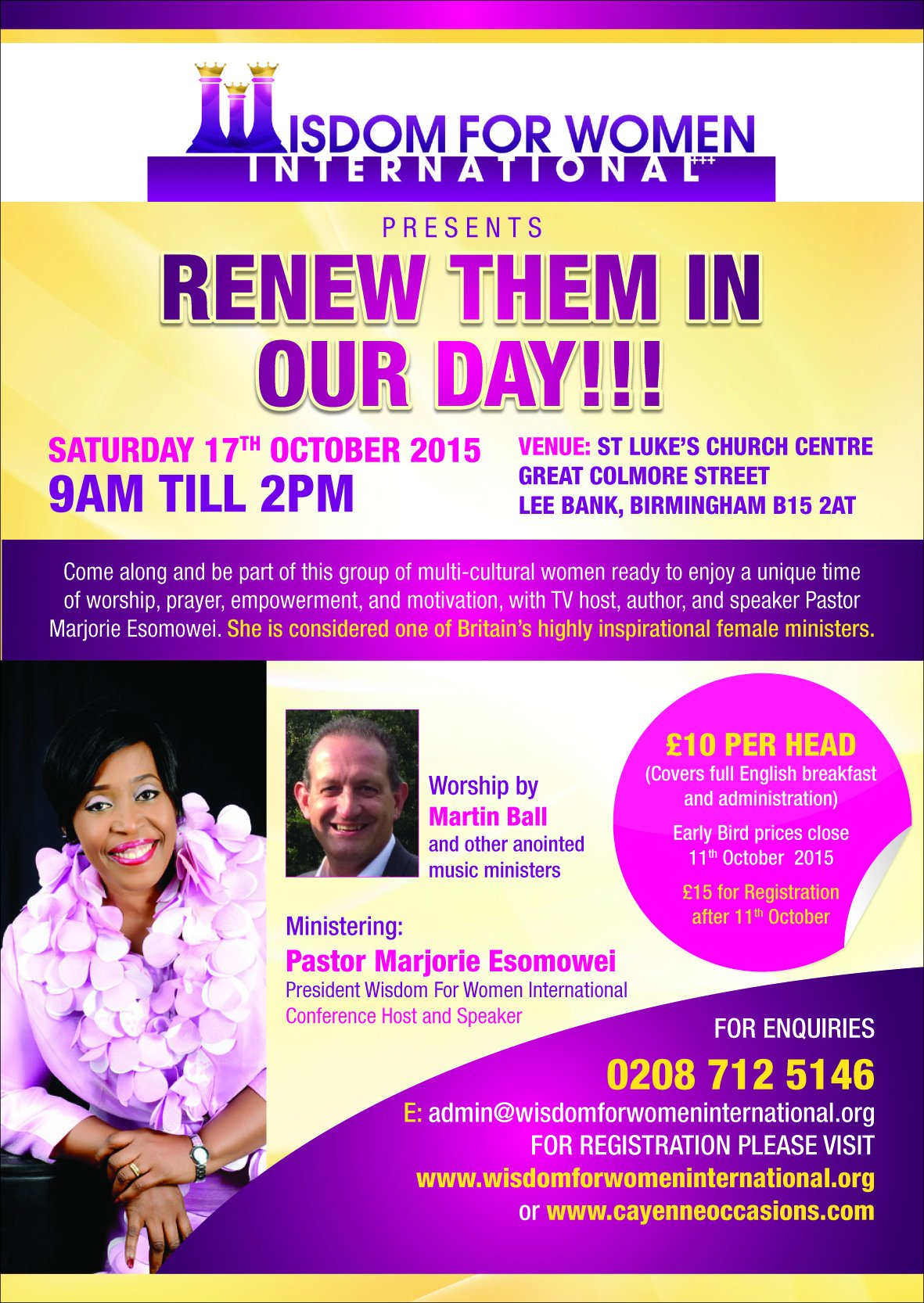 Renew Them in Our Day!!! @ St Luke's Church Centre, Great Colmore Street, Lee Bank, Birmingham B15 2AT