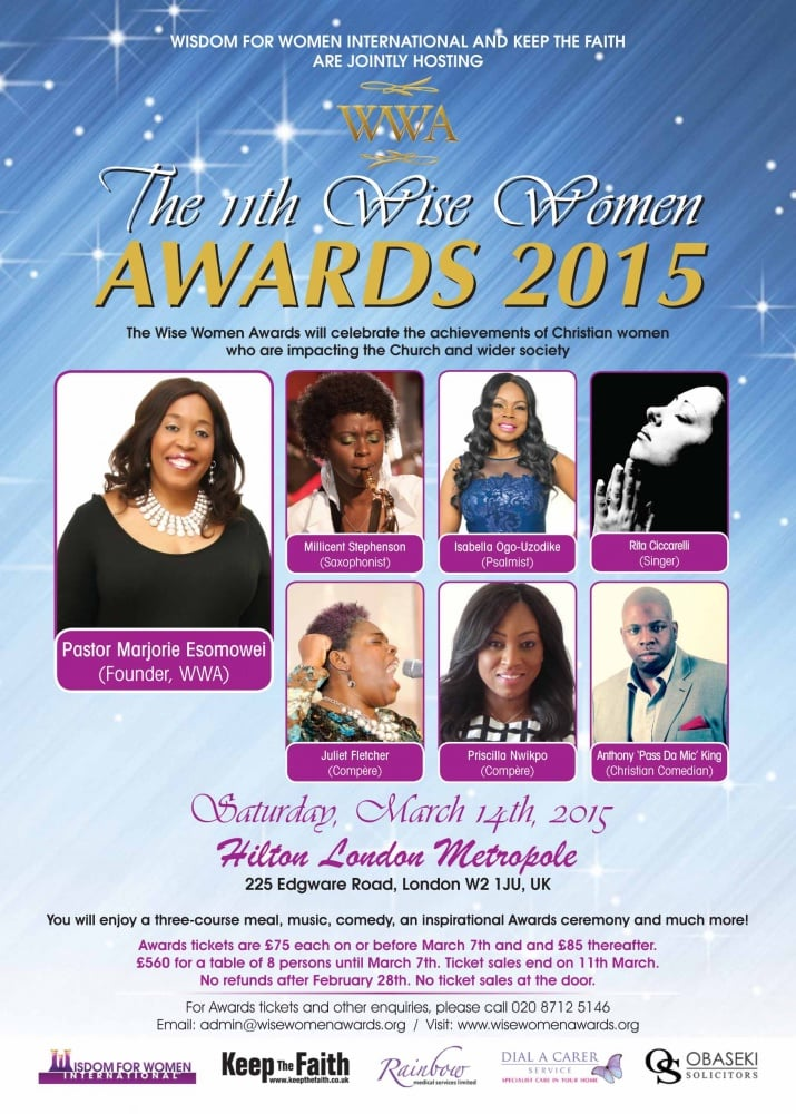 The 11th Wise Women Awards 2015 @ Hilton London Metropole | London | England | United Kingdom