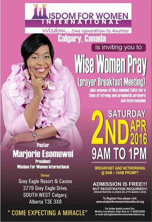 Wise women pray calgary