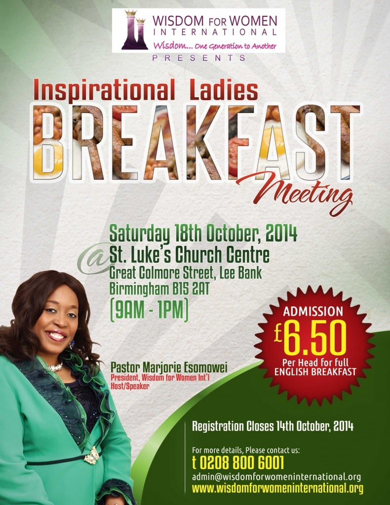 Wisdom for Women Conference in Birmingham England  @ St Luke's Church Centre | Birmingham | United Kingdom