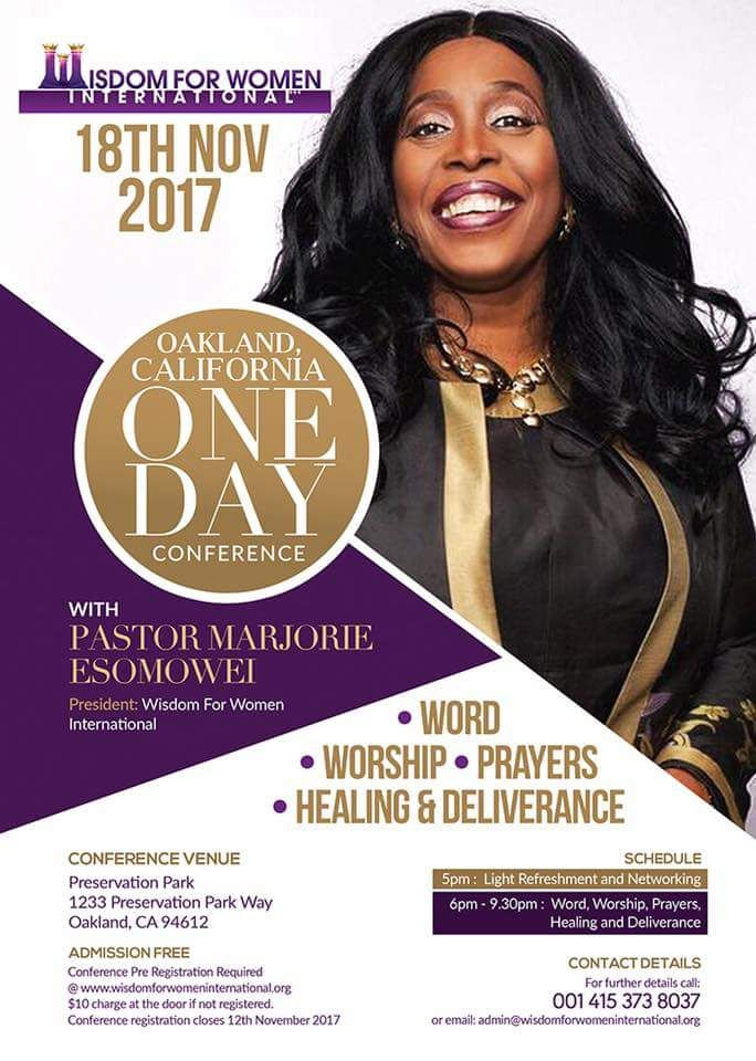 ONE DAY CONFERENCE IN OAKLAND CALIFORNIA
