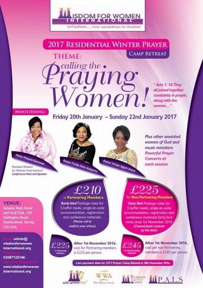 2017 Women Prayer Camp front