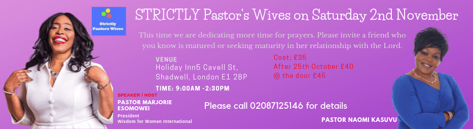 STRICTLY Pastor's Wives on Saturday 2nd November